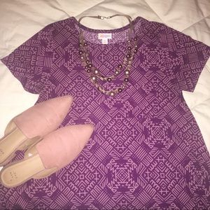 LulaRoe Carly Hi-Lo Dress in Purple